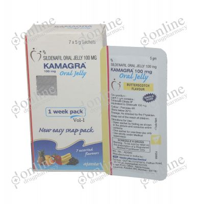 Kamagra Oral Jelly Rx 100 mg-Front-view