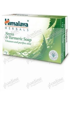 Neem & Turmeric Soap 75gm-front-view